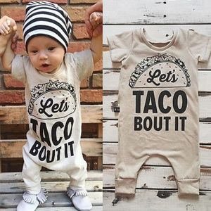 """Other - Baby outfit """"Let's taco 'bout it""""! 6,9,18-24 mo."""